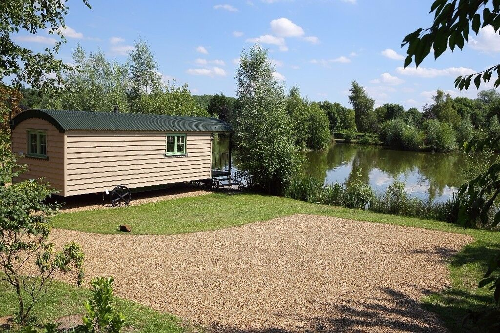 Shepherds Hut sleeps two adults. £115.00 per night two night min stay. Own hot tub free fishing.