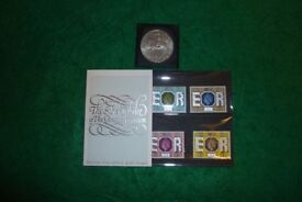 Silver jubilee coin and stamps