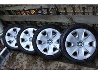 BMW 1 Series Pirelli run-flat winter tyres (195/55 R16), steel wheels, BMW wheel trims (Set of 4)