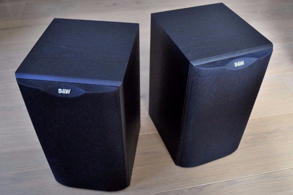 BW Bowers Wilkins DM601 S1 Bookshelf Speakers Black With Grilles