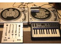 Ministry of Sound MOSTT1000 Turntable (x2), Stanton RM-3 Mixer, Audio 4 DJ, M-Audio Oxygen 25 MK3