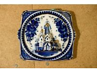 HAND-PAINTED porcelain decorative plate, vintage - CHARITY SALE