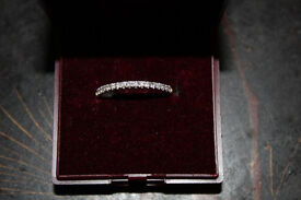 Women's Diamond and 14kt Gold Band/Ring, Wedding Band