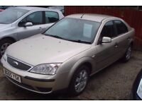 ford mondeo lx tdci, 2005-05 plate, 2000cc turbo diesel, new mot on purchase, 140,000 miles,