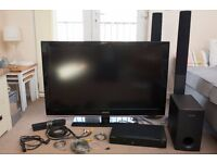"Samsung 46"" TV with DVD Player and 5.1 Surround Sound"