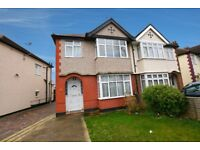 RECENTLY REDECORATED SPACIOUS 3 BED SEMI, 2 RECEPTIONS, 100' GARDEN, GARAGE CLOSE TO STATION (11360)