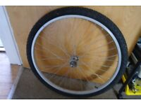 Mountain Bike 26 Inch Alloy Front Wheel And Tyre Wheel Runs True Can Deliver Free If Local