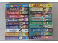 20 Walt Disney Classic animated favourites on video - most have never been watched!