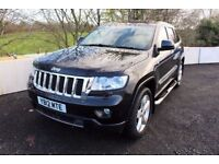 12 JEEP GRAND CHEROKEE 3.0 CRD 0VERLAND EDITION 4WD AUTO + FULL SPEC inc REVERSE CAMERA & PAN ROOF +