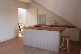 Central Guildford Large Newly Refurbished 2 Bed Flat with Mezzanine Loft Area Creating 2nd Reception
