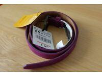 Brand New Zara Leather Purple Belt