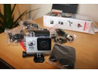 Video Camera Full HD waterproof with all accessories to mount any where