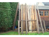 Quantity of good old timber various 8ft 9ft and 16ft approx lengths ( moving house)