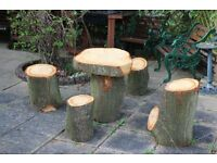 Solid Oak Table and 4 stools