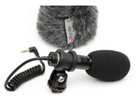 Audio Technica Pro 24 CM Stereo DSLR Camera Microphone Video Mic Rycote Windshield Better Than Rode