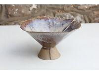 Unusual Handmade Art Pottery Vase / Bowl Culross Pottery Scotland Studio Pottery