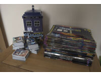 HUGE AMOUNT OF DR WHO COLLECTORS CARDS / TARDIS / MAGAZINES , ANNUALS AND STORY BOOKS