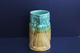 Antique Ceramic Water Jug / Pitcher Shaped like a Bird / Owl Victorian Pottery