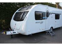 Sterling Eccles Sport 564 SR 2013 4 Berth Fixed Single Beds Caravan + Motor Movers