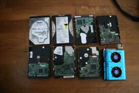 Bunch of HDDs