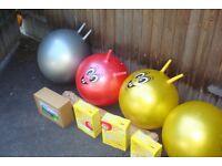 Sit on bouncy balls