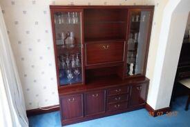 Mahogany Display Cabinet.