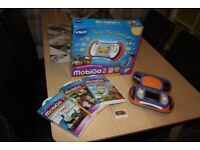 Vtech Mobigo 2 & Games - Blue