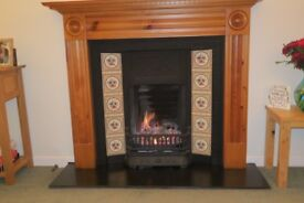 Cast iron Art deco style fireplace for sale