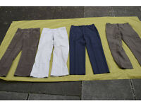 Joblot of (4) Pairs of Mens Trousers