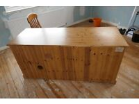 Large wooden desk for sale. 1.64m x 0.62m x 0.78m high. 2 small draws. File draw. RHS open.