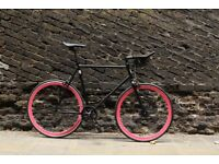 JanuarySale GOKUCYCLES Steel Frame Single speed road bike track bike fixed gear racing fixie pink