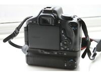 Canon EOS 600d with battery grip