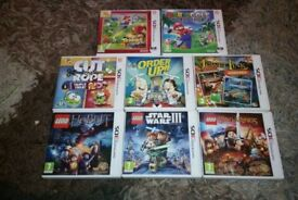 3DS games including Mario ones Mario Tennis Open Mario golf world tour LEGO The Hobbit