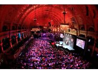 WORLD MATCHPLAY DARTS TICKETS FIRST ROUND SUNDAY TABLE SEATS X 5
