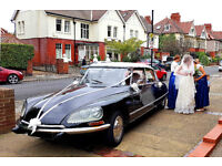 Classic 1970 Citroen DS available for your Wedding Day.