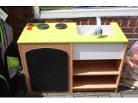 Wooden Healthy Eating Kitchen & Market Stall