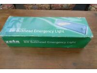 THREE BRAND NEW BULKHEAD 8 WATT EMERGENCY LIGHTS ,£8 EACH OR THREE FOR £20