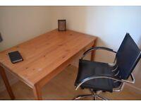 Office desk/table plus chair