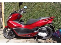 Honda PCX 125 scooter 65 plate 2050 miles 1 owner from new