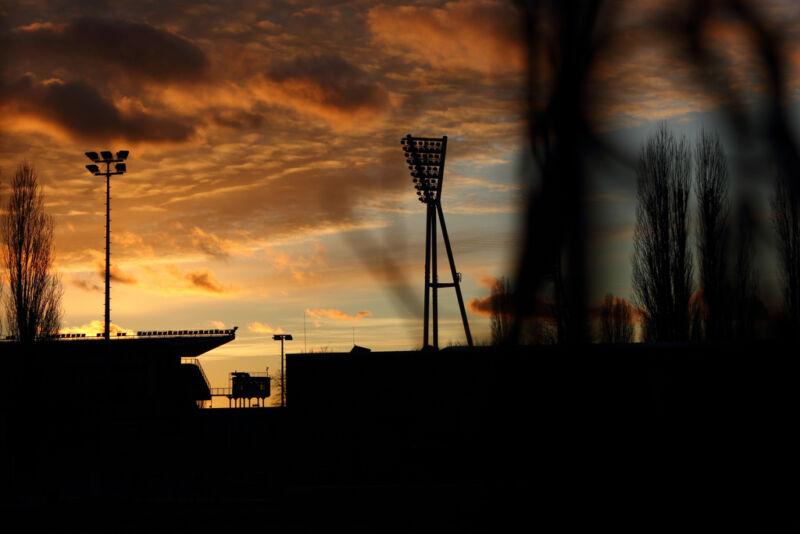 Fußball-Romantik für das CL-Finale der Frauen am Friedrich-Ludwig-Jahn-Sportpark (trevide (CC BY-ND 2.0))