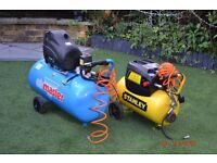 nearly new compressers and nail gun