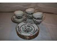 Duchess bone china - 6 small plates, 3 saucers, 5 tea cups