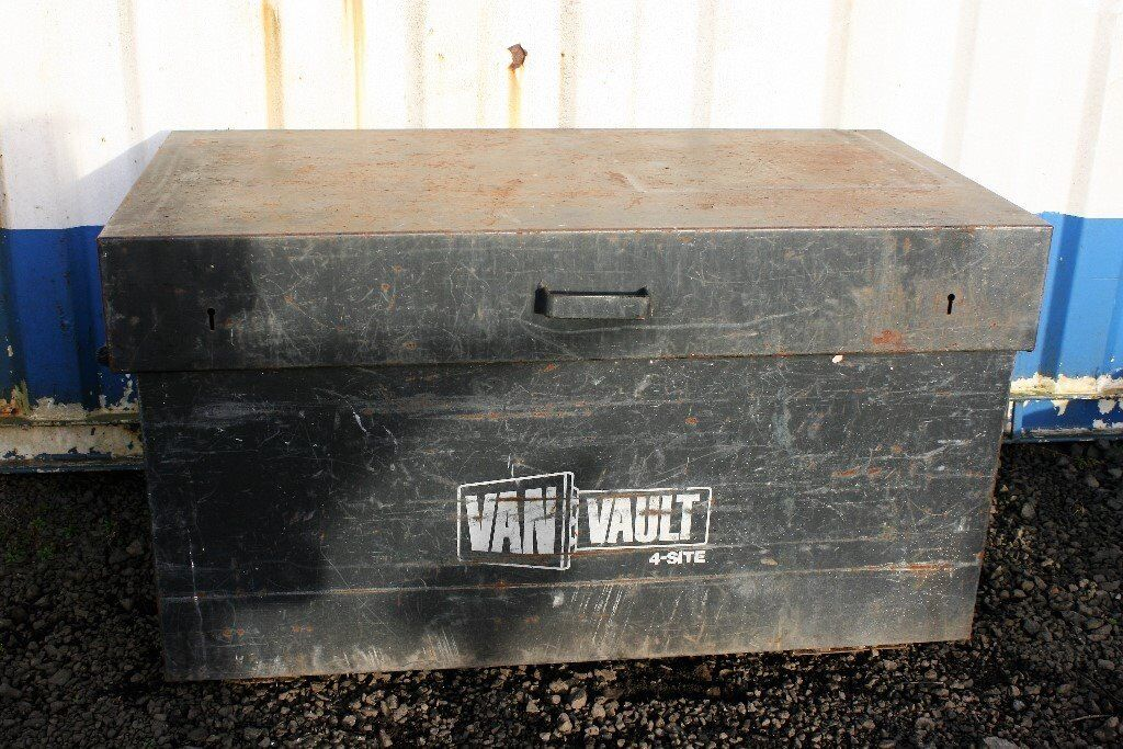 704d74642f Van Vault 4 Site Van Flat Bed Storage Box NO KEYS