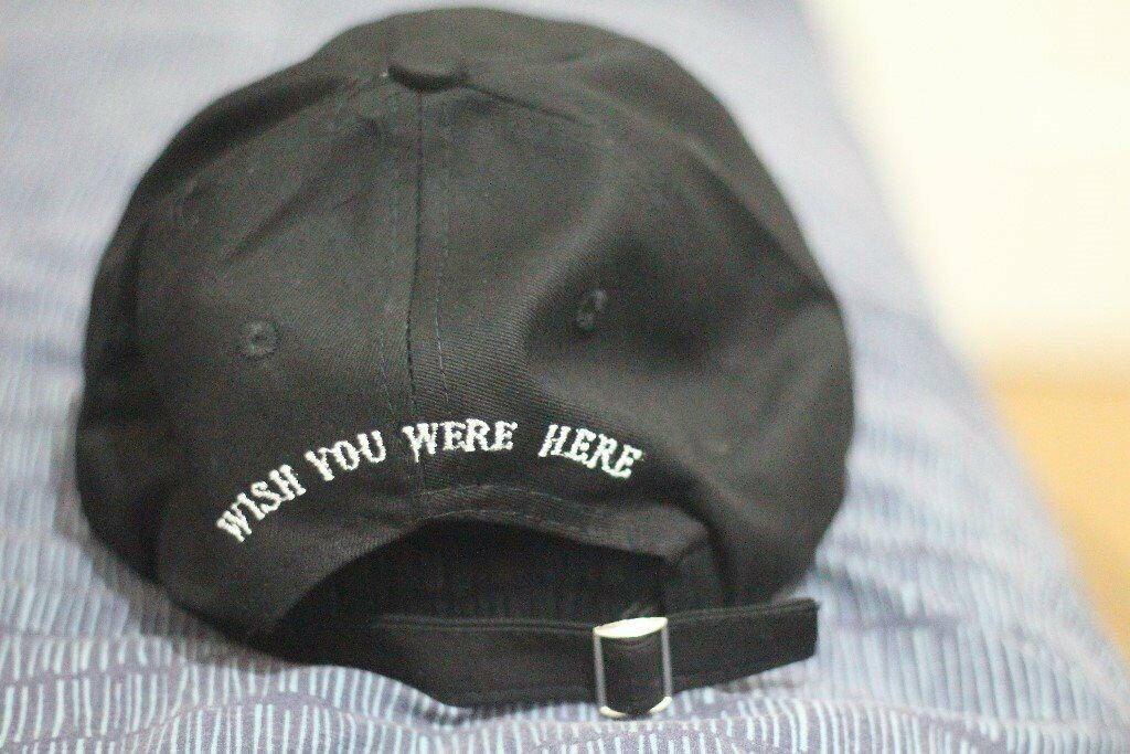 5c54c7b6297 New Travis Scott Travi   cott Astroworld Black Hat Tour Merch Cap Strapback  Dad wish you were here