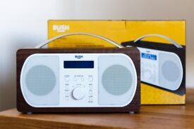 Bush DAB Radio - Walnut. Immaculate condition, hardly used and in full working order