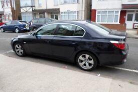 BMW 5SERIES 525D AUTO, FULL LEATHER, AIR CON, SAT NAV, 6 CD CHANGER, CRUISE CONTROL, 2 KEYS, ALLOYS