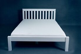 Brand new pine king size beds in white. Free delivery in Bournemouth