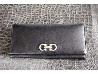 Salvatore Ferragamo Black Ladies Wallet