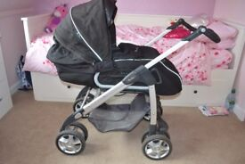 Silver Cross Pram, Car Seat and Isofix Base