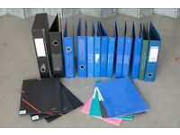 Used Stationery Files - Mostly A4, 2&4 Ring Bound, Lever Arch, Box and Wallets